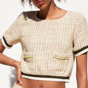 Zara Tweed Top